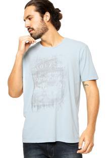 Camiseta Vila Romana Estampa Azul