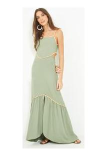 Vestido Vazado Bicolor #Joie Verde Claro