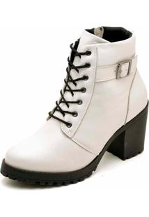 Bota Cano Curto Dr Shoes Branco