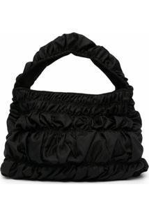 Molly Goddard Bumpy Thick-Handle Shoulder Bag - Preto