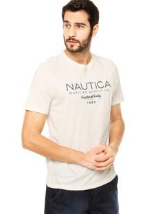Camiseta Nautica Classic Fit Tradition Off-White