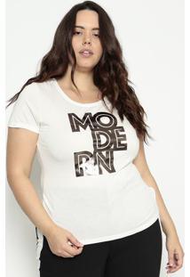 "Blusa ""Modern""Off White & Prateadahering"