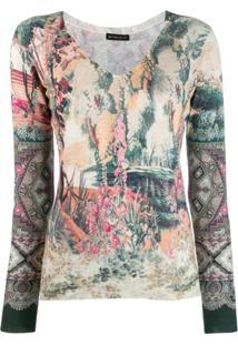 Etro Floral Print Jumper - Neutro