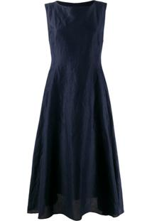 Max Mara Boat Neck Midi Dress - Azul