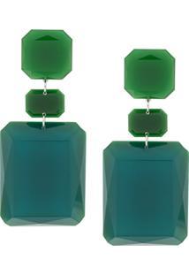 Isabel Marant Square Earrings - Green