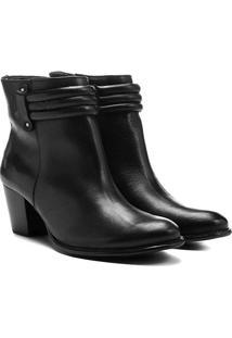 Bota Couro Shoestock Cano Curto