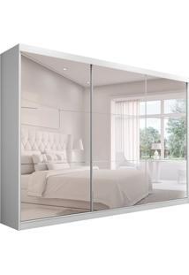 Guarda-Roupa Casal Com Espelho Apólo 3 Pt 4 Gv Branco