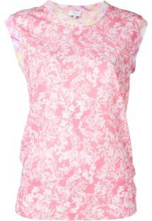 Escada Sport Blusa Estampada Com Gola Redonda - Rosa