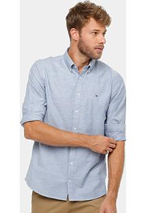Camisa Tommy Hilfiger Oxford Slim Fit Masculina - Masculino