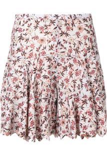 Chloé Floral Print Shorts - Cinza