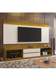 Estante Home Theather P/ Tv Até 65 Polegadas Istambul - Mavaular Mel/Off White