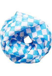 Echarpe Zohar Acessórios Quadriculada Azul