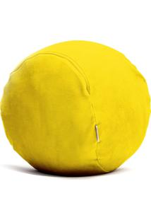 Puff Organizador Quartinhos Infantil Para Bichos De Pelúcia Amarelo