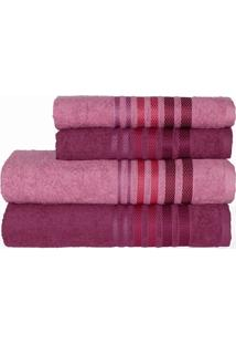 Jogo De Banho Camesa Dynamo Plus 4 Peças Rose Pink