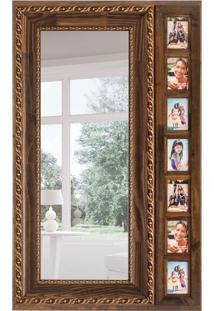 Espelho Decorativo Peruggi 82X134 Cm Marrom