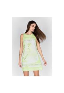 Vestido Reto Sem Manga Verde_Ves22201 Verde