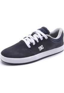 Tênis Couro Dc Shoes Crisis La Azul-Marinho