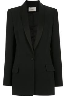 Egrey Blazer Com Recortes - Preto