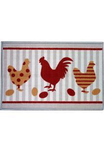 Capacho Para Cozinha Clean Kasa Chicken 40X60Cm