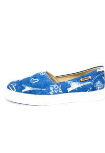 Tênis Slip On Quality Shoes Feminino 002 Jeans Paris 30