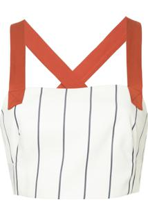 Manning Cartell Blusa 'Paper Giants' Cropped - Branco
