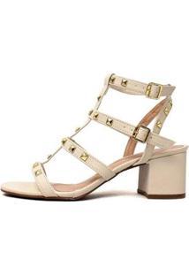 Sandália Damannu Shoes Fiorella Feminina - Feminino-Off White