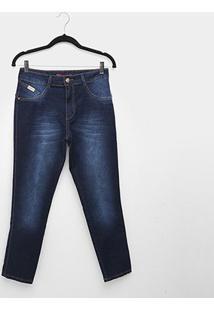 Calça Jeans Biotipo Alice Plus Ize Skinny Midi Feminina - Feminino-Azul
