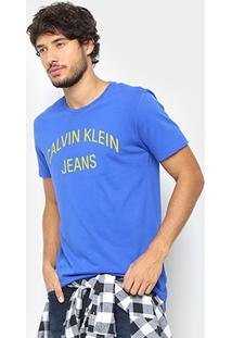 Camiseta Calvin Klein Logo Curva Masculina - Masculino
