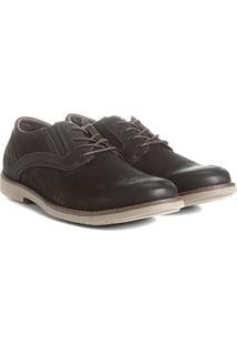 Sapato Casual Couro Kildare Com Cadarço Masculino - Masculino-Preto