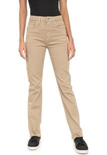 Calça Sarja Calvin Klein Jeans Slim Desgastes Bege