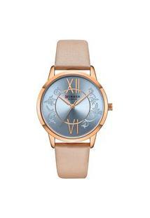 Relógio Curren Analógico C9049L Rosê E Bege