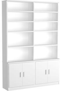 Estante Livraria 4 Portas 1283 Branco Foscarini