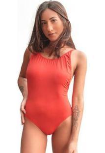 Body Lateral Aberta Mr.Sol Pool Party - Feminino-Laranja