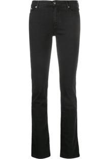 Karl Lagerfeld Denim Calça Jeans Slim Cintura Média - Preto