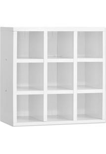 Porta Toalhas Ajl Móveis 9 Lugares 40X40 Cm Nicho Organizador Branco