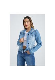 Jaqueta Jeans Zait Feminina Jeans Lorena Azul Marinho
