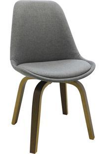 Cadeira Lis Tecido Cinza Rivatti Móveis