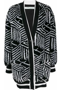 Off-White Cardigan Felpudo - Preto