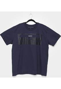 Camiseta Industrie Plus Size Básica Masculina - Masculino-Marinho