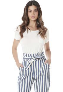 Blusa Básica Serinah Brand Com Bolso Branca