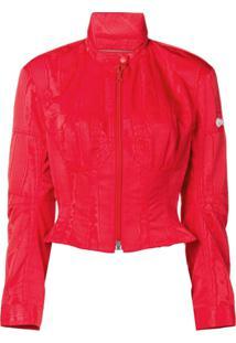 Marine Serre Moire Jacket - Vermelho