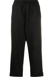 Y-3 Drawstring Trousers - Preto