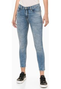 Calça Jeans Feminina Super Skinny Cintura Alta Azul Claro Calvin Klein - 34