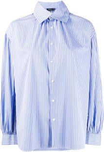 Polo Ralph Lauren Camisa Reta Listrada - Azul