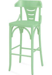 Banqueta Para Bancada Moderna Alta - Laca Verde Sálvia - Augustine 39X41X105 Cm