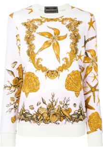 Versace Suéter 'Sea' Em Algodão - Estampado