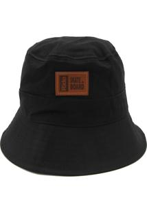 Chapéu Ride Skateboard Bucket Hat Preto