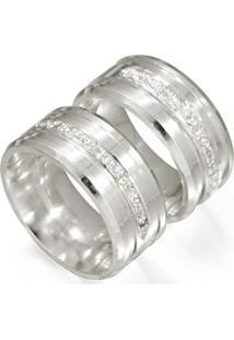 Aliança De Ouro Anatômica Com Diamantes - As0278
