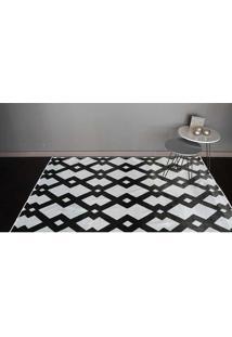 Tapete Belga Geometric Desenho 10 1.40X2.00 - Edantex - Preto / Branco