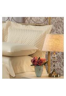 Fronha Para Travesseiro 50X150Cm Matelasse Soft Touch Bege Plumasul